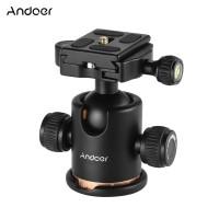 "Andoer Camera Tripod Ball Head Ballhead With Quick Release Plate 1/4"""