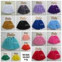 Basic Skirt Rok Tutu Anak 4-5y