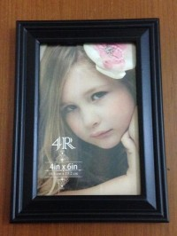 Frame Kayu / Pigura Foto ukuran 4R Hitam produk istimewa