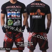 Kaos Muay Thai Yokkao, Baju Muaythai, T shirt Thai Boxing KB476