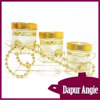 Vicenza  Glass Candy Jar Toples Kaca GB3