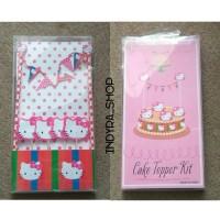 Hello Kitty Helo Kartun Karakter Cake Cupcake Topper Kit / Hiasan Kue
