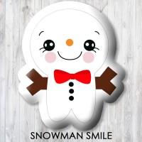 Bantal Boneka Dekorasi Xmas - Large Snowman-Smile