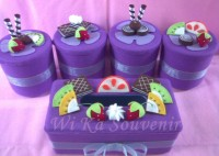 SET TOPLES FLANEL MIX FRUITS ISI 4