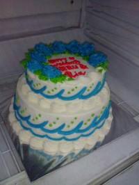 kue tart pernikahan 2 tingkat