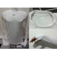Baselayer/Manset Thumbhole Longsleeve Nike/Adidas Putih