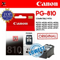 ORI!!! CARTRIDGE PRINTER CANON PG810 BLACK HITAM PG 810 CATRIDGE