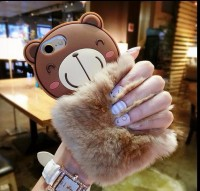 Softcase 3D Rabbit Fur Bear Plush Flurry Cover Casing OPPO NEO 7 A33