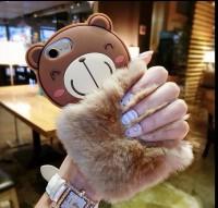 Softcase 3D Rabbit Fur Bear Cover Casing Samsung Galaxy Grand Prime