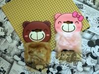 Softcase 3D Rabbit Fur Bear Plush Flurry Casing Samsung Galaxy J1 Ace