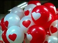 Balon latex sablon hati besar / Balon latex big heart putih atau merah