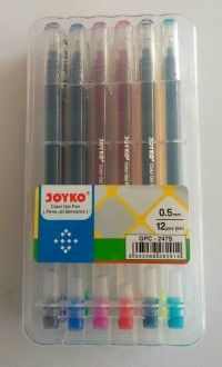 Pulpen Gel Warna Joyko GPC-247S ( Set / Pack)
