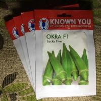 25 biji Benih Bibit OKRA Hijau LUCKY FIVE Known You Seed, kemasan asli