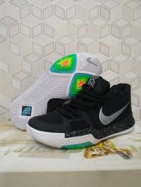 [FREE SHOES BAG]Sepatu Basket Kyrie 3 Ice Black / Nike / Kobe / UA