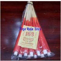Lilin Merah Tusuk Kayu Bambu isi 10 batang