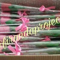 mawar tangkai pink bunga sabun