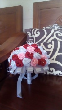 Bunga buket satin pengantin