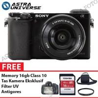Sony Alpha A6000 Kit 16-50mm Paket Komplit 16gb,Tas,Filter,Antigores