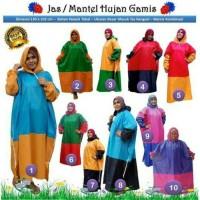 BEST SELLER!! Jas Hujan Mantel Wanita Gamis Jumbo Besar Kombinasi