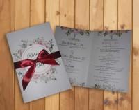 undangan pernikahan vintage elegan