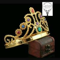 Mahkota Ratu Gold / Topi Ulang Tahun / Perlengkapan Pesta