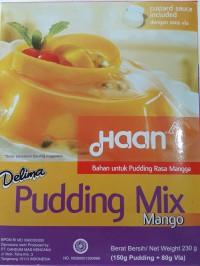 Haan Delima Puding Mix Mango/ Tepung Bubuk Puding Mangga 230gr