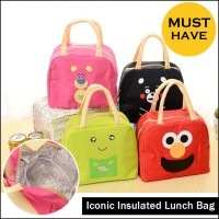 Tas Bekal Makan Panas Dingin - Iconic Insulated Lunch Bag WAJAH KARTUN