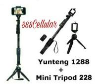 Tongsis Bluetooth Yunteng YT-1288 + Mini Tripod YT-288
