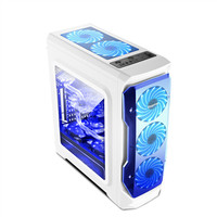 SEGOTEP HALO White Full Transparent Side Window ATX Gaming Case