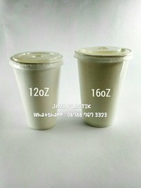 PAPER CUP COLD CUP 16 OZ POLOS ( ISI 50 SET ) TERMURAH