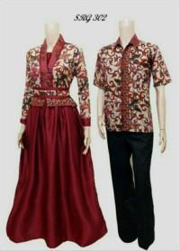 Batik Kebaya Couple / Sarimbit Gamis Velvet 302