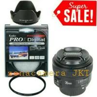 Lensa Yongnuo 35mm f.2 For Nikon / Canon FREE Kenko filter + Lenshood