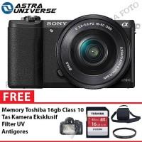 Sony Alpha A5100 Kit 16-50mm Paket Komplit, 16gb,Tas,Filter,Antigores
