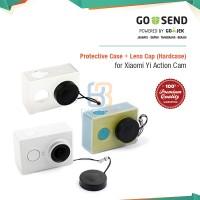 PROMO!  Hardcase / Casing Transparan + Lens Cap for Xiaomi Yi Camera