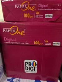 Kertas HVS A4 100 gram Paper ONe Premium kualitas mantap!!