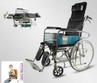 kursi roda 3in1, reclining, commode