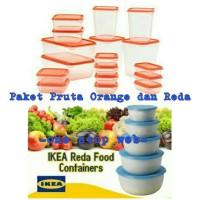 Paket Ikea Pruta Orange 17 Pcs dan Ikea Reda 5 Pcs