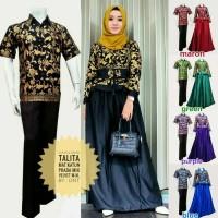 Batik Couple Kebaya / Sarimbit Talita Savana Gamis Velvet