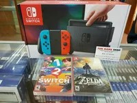 Nintendo Switch( Neon Blue /Neon Red) Bundle 2Game New