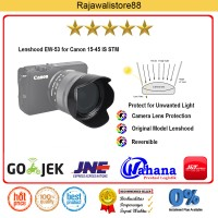 Rajawali Lenshood EW-53 for Canon 15-45 IS STM, Canon M10/M3 Kit Lens