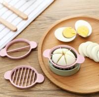 3 in 1 Egg Boiled Slicer / Alat Pemotong Telur Rebus
