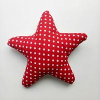 Star pillow / Bantal Bintang - Polkadot merah