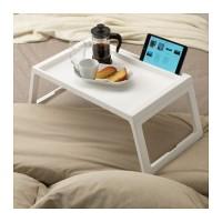 IKEA KLIPSK, Baki lipat tempat tidur, warna putih, uk 56x36x26cm