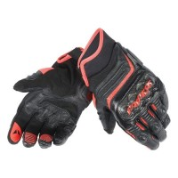 glove / sarung tangan dainese D1 hitam list orange