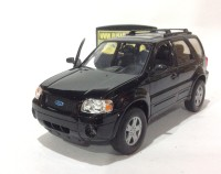 2005 FORD ESCAPE LIMITED (HITAM) - SKALA 1:24 - WELLY (DIECAST)