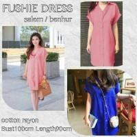 dress pendek / mini dress semi blouse fushi simply midi style