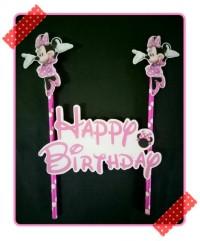 topper kue / topper cake ulang tahun karakter minnie mouse