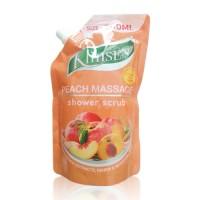 Klinsen Shower Scrub Peach Massage 500ml