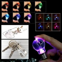 Lampu LED Bohlam Mini Multiwarna dengan Keychain - Transparent