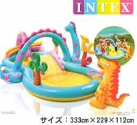 Kolam INTEX dinoland play center - 57135 Kolam Renang Mandi Bola Anak